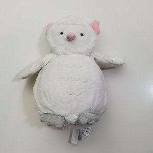 Carters Spotted Owl White Grey Pink Plush Stuffed